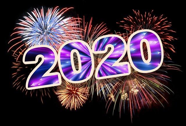 2020 année affichée du bonheur