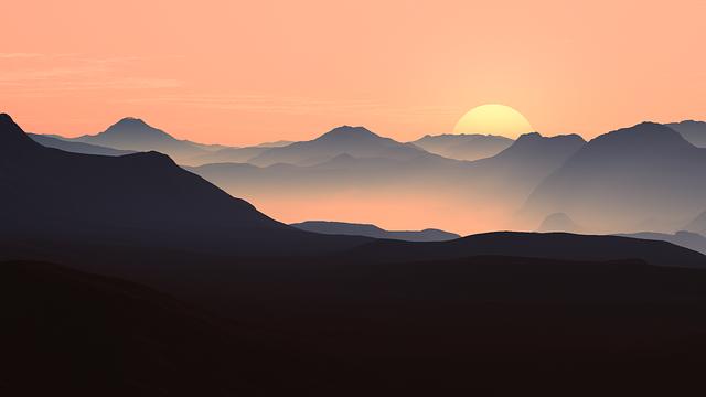 paysage montagne ombres et lumières